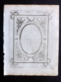 Langley 1777 Antique Architectural Print. Ceiling 166